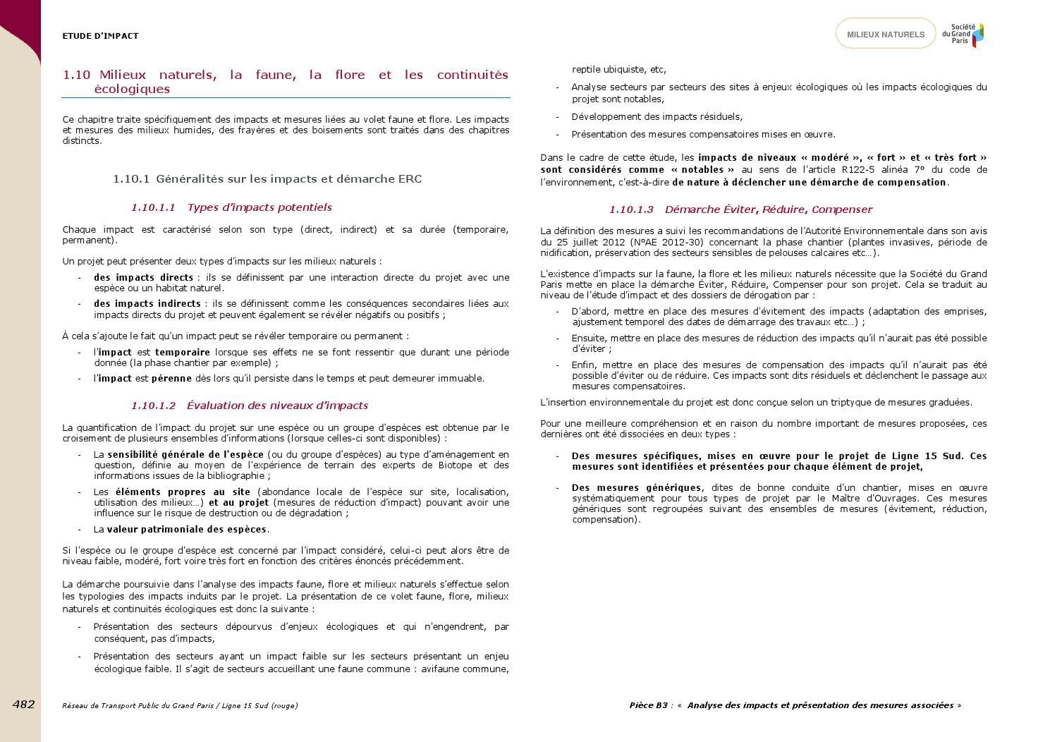Pièce B.3 - Analyse des impacts et présentation des mesures associées (2 2)  by SGP Enquête publique unique ligne 15 sud LSE et PC Gares - issuu 2d0fdf457c3a