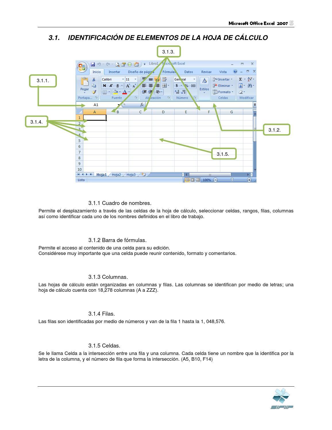 Excel identificacion elem hoja calculo by Jimena jocelin - issuu