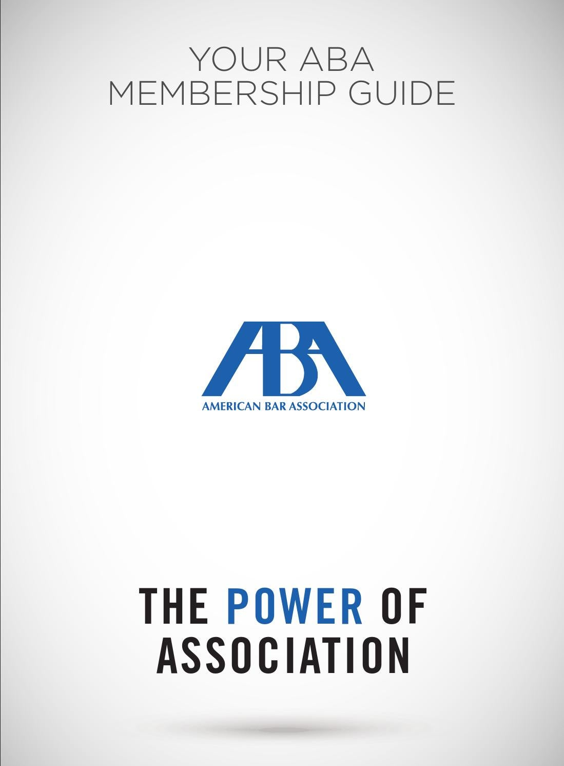 your aba membership guide by american bar association issuu