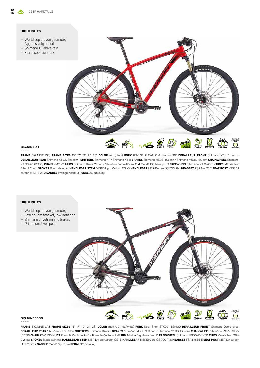 Catalogo Merida 2016 By Bikemtb Net Issuu