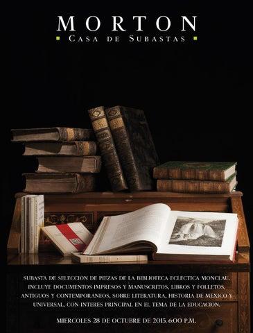 c840859fbfd subasta de selección de piezas de la biblioteca ecléctica monclau. incluye  documentos impresos y manuscritos