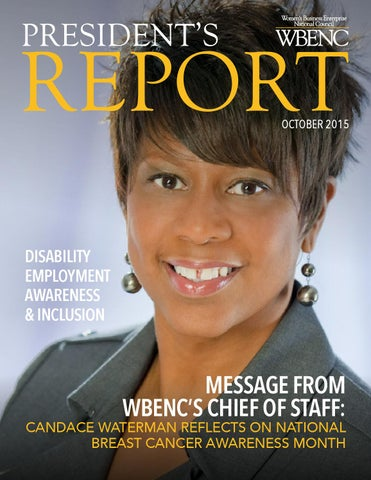 Presidents Report October 2015 By Wbenc Issuu