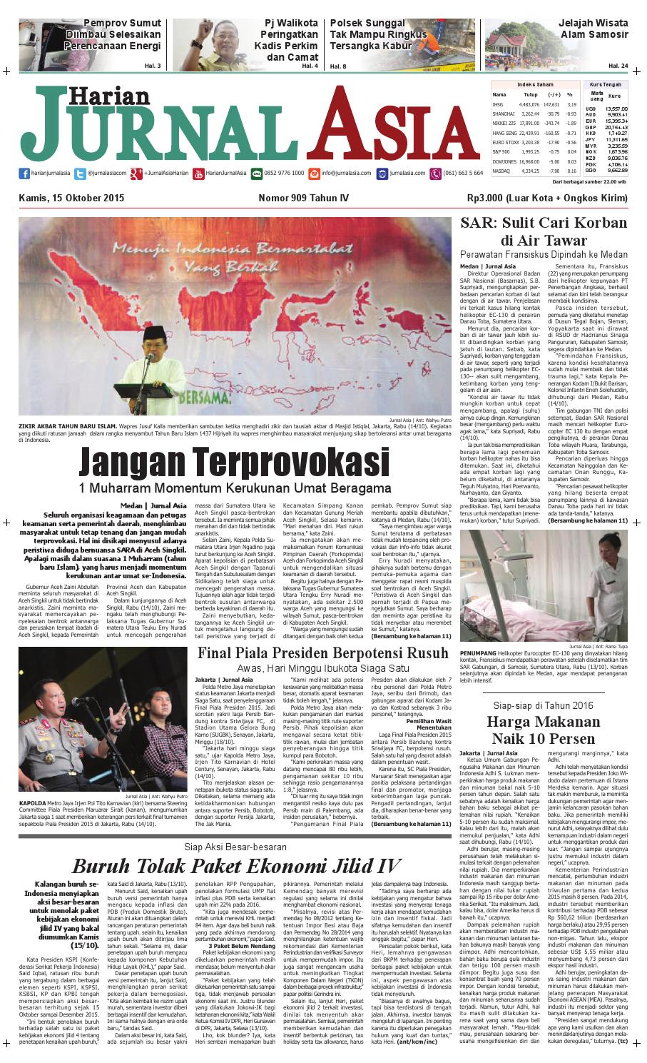 Harian Jurnal Asia Edisi Kamis 15 Oktober 2015 By Loop Ekskul Voucher Map Rp 100000 Medan Issuu