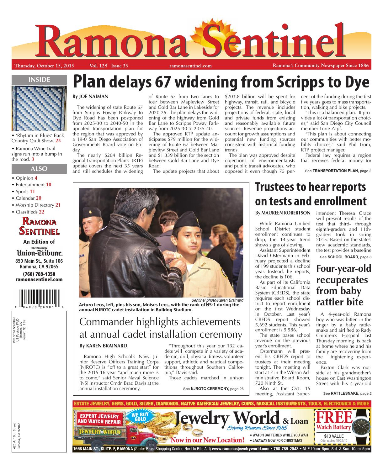 Ramona Sentinel 10.15.15 by MainStreet Media - issuu