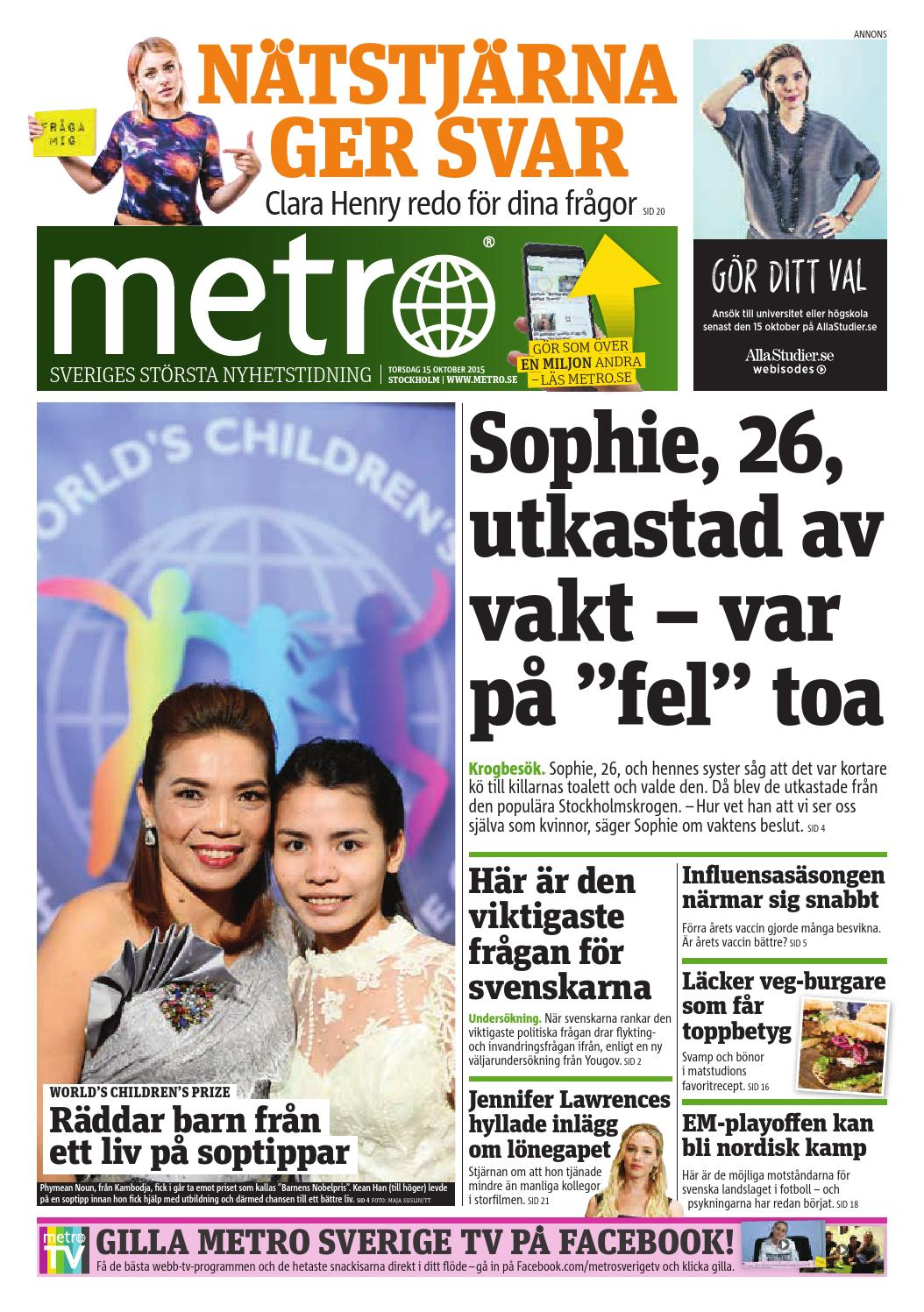 20151015 se stockholm by Metro Sweden - issuu 5f95b906f935c
