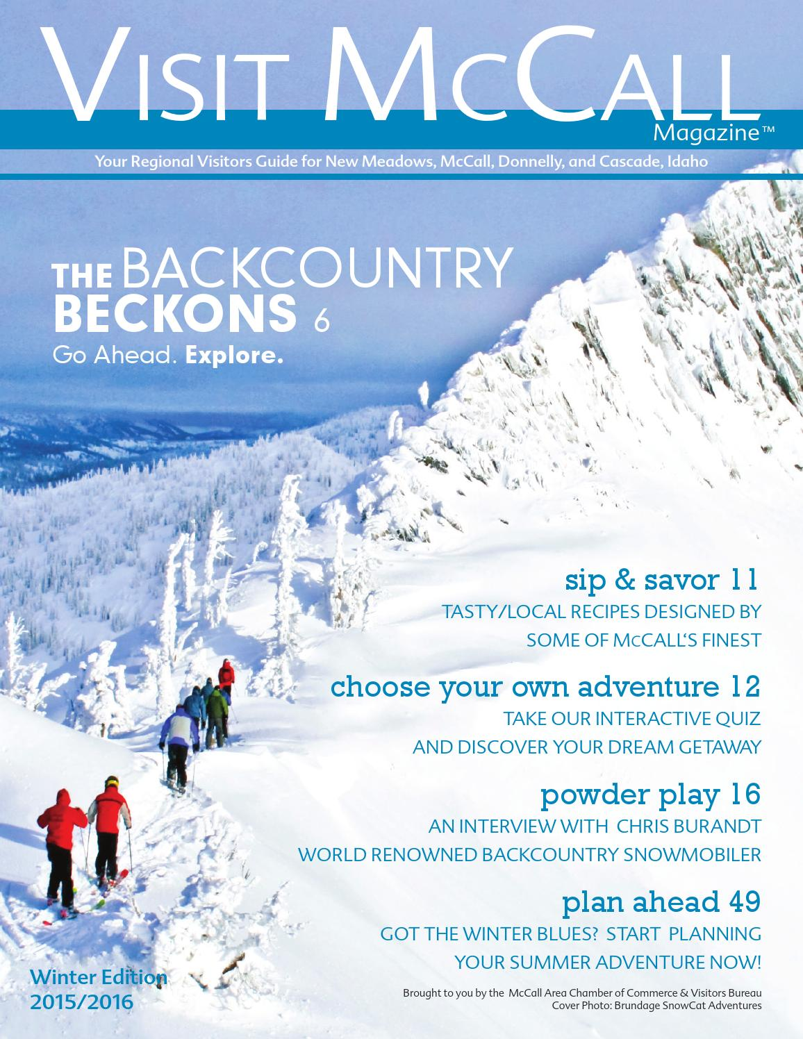 Visit Mccall Winter 2015 2016 By Mccall Area Chamber Of