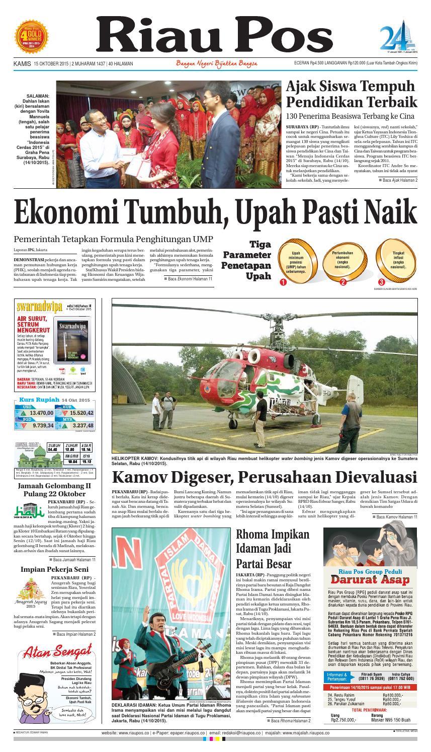 Riau Pos by Riau Pos - issuu cb9e9647c2