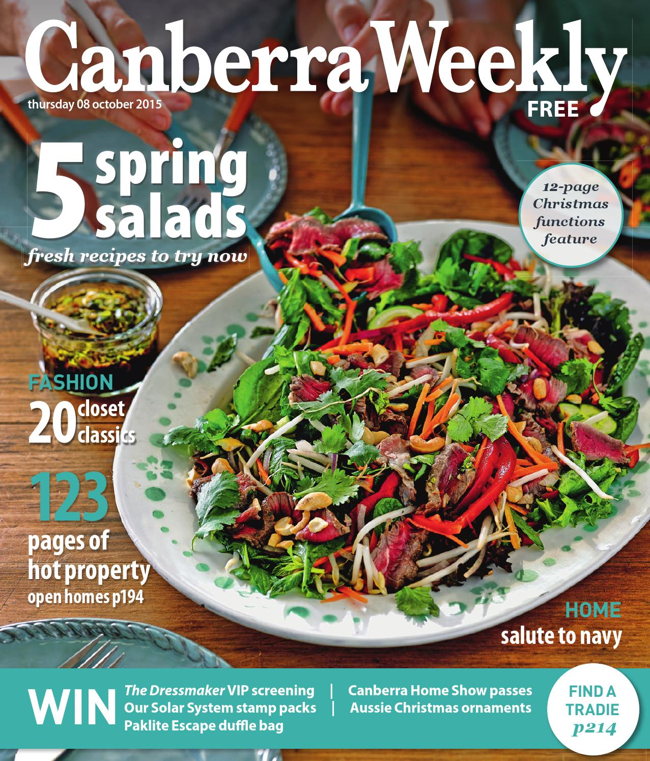 08 October 2015 By Canberra Weekly Magazine Issuu