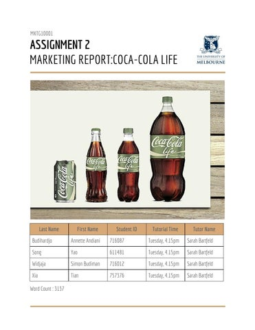 coca cola demographic segmentation