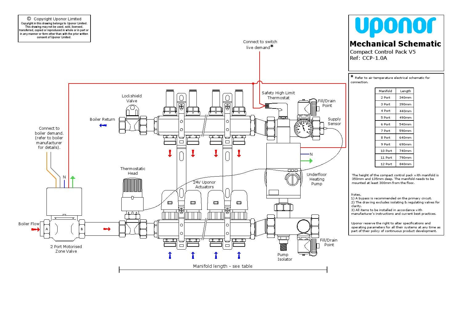 uponor underfloor heating wiring diagram