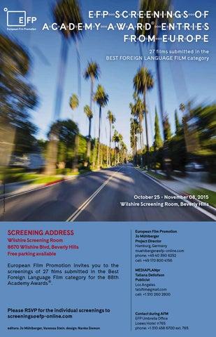 81b538a8e8b EFP Screenings of Academy Award Entries by °efp - european film ...