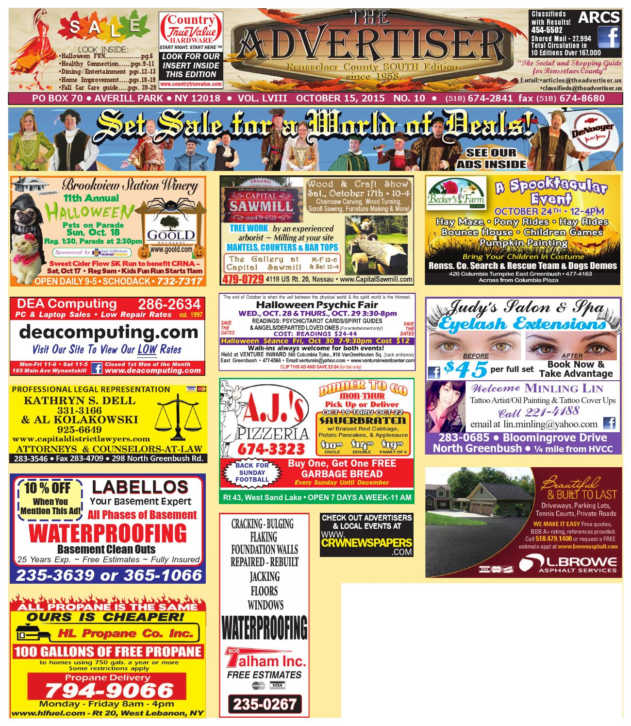 Advertiser South 101515 by Capital Region Weekly Newspapers - issuu 67a9bf017e8e9