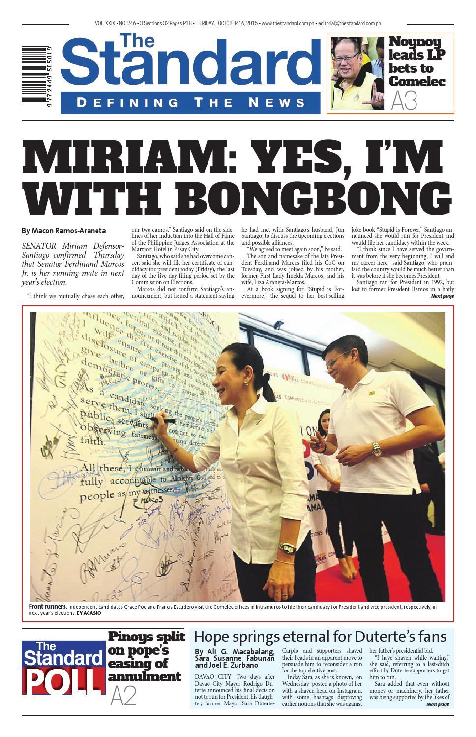 The Standard 2015 October 16 Friday By Manila Standard Issuu