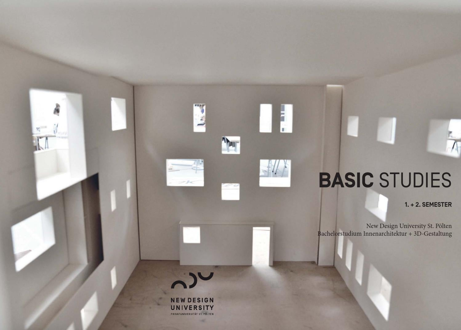 Projektmagazin basic studies by new design university issuu - Innenarchitektur programm ...