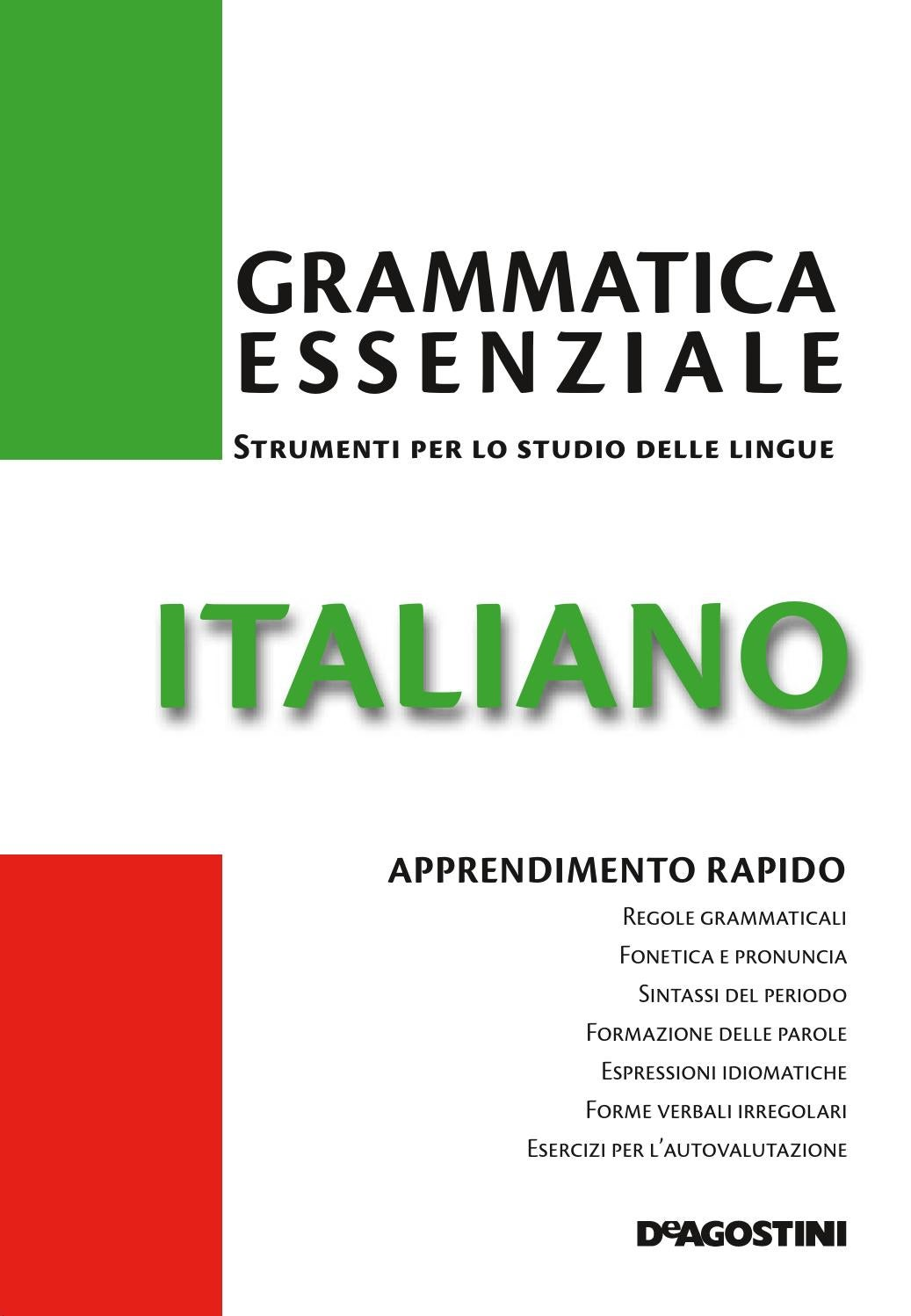 Favoloso Grammatica essenziale italiano by Arlete - issuu JL73