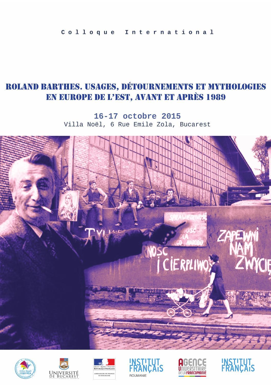 Centenarul roland barthes by institut fran ais issuu - Barthes la chambre claire ...