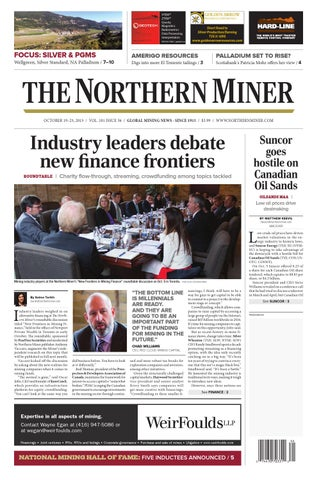 284086542 The Northern Miner October 19 2015 Issue by The Northern Miner Group ...