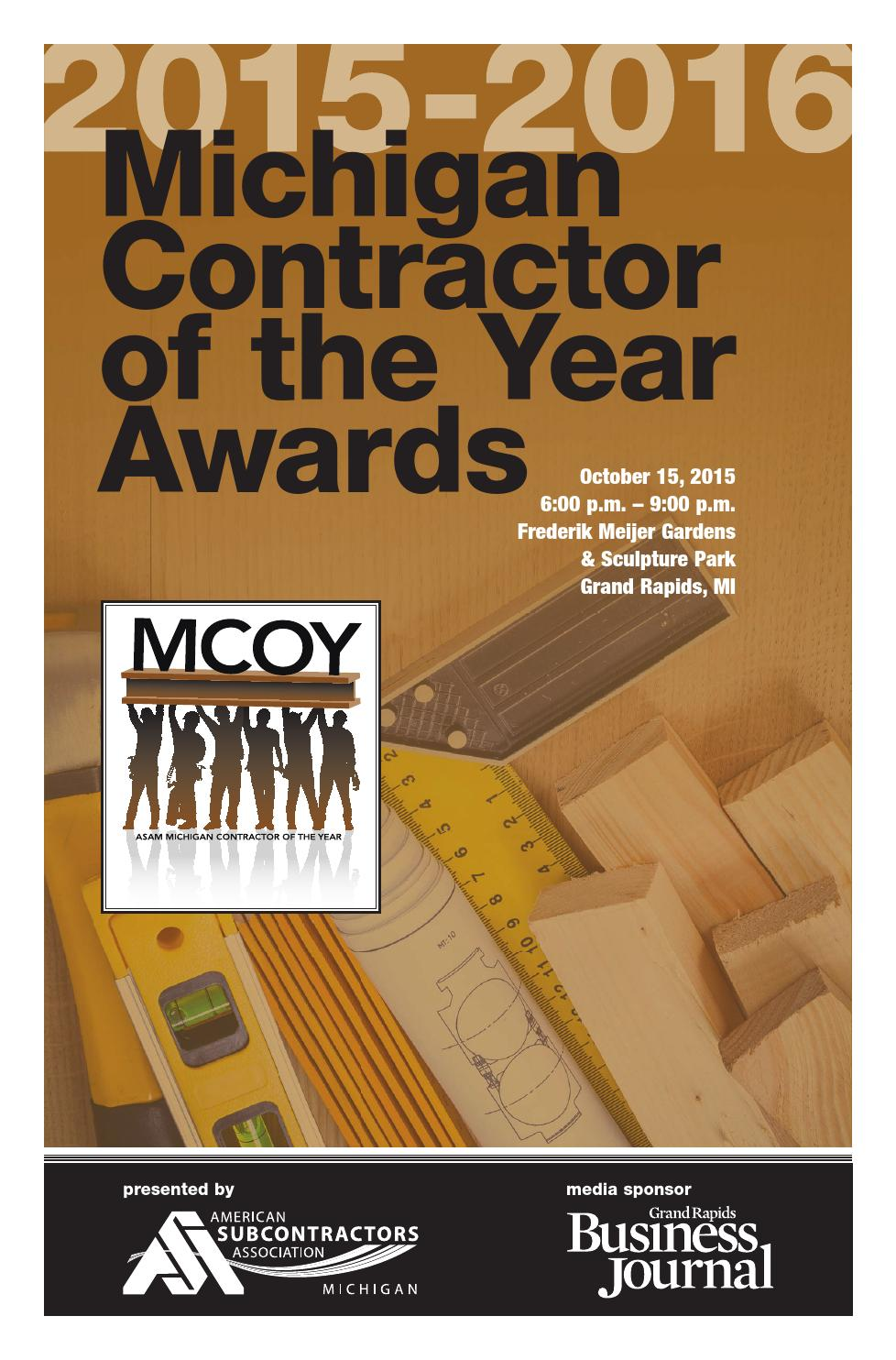 Mcoy 2015 2016 michigan contractor of the year awards by grand mcoy 2015 2016 michigan contractor of the year awards by grand rapids business journal issuu xflitez Gallery