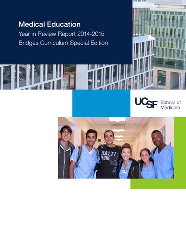 UCSF Office of Medical Education Year in Review 2014-15