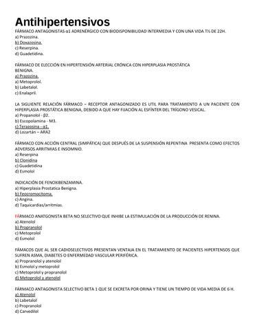 fármacos antihipertensivos de retención de líquidos