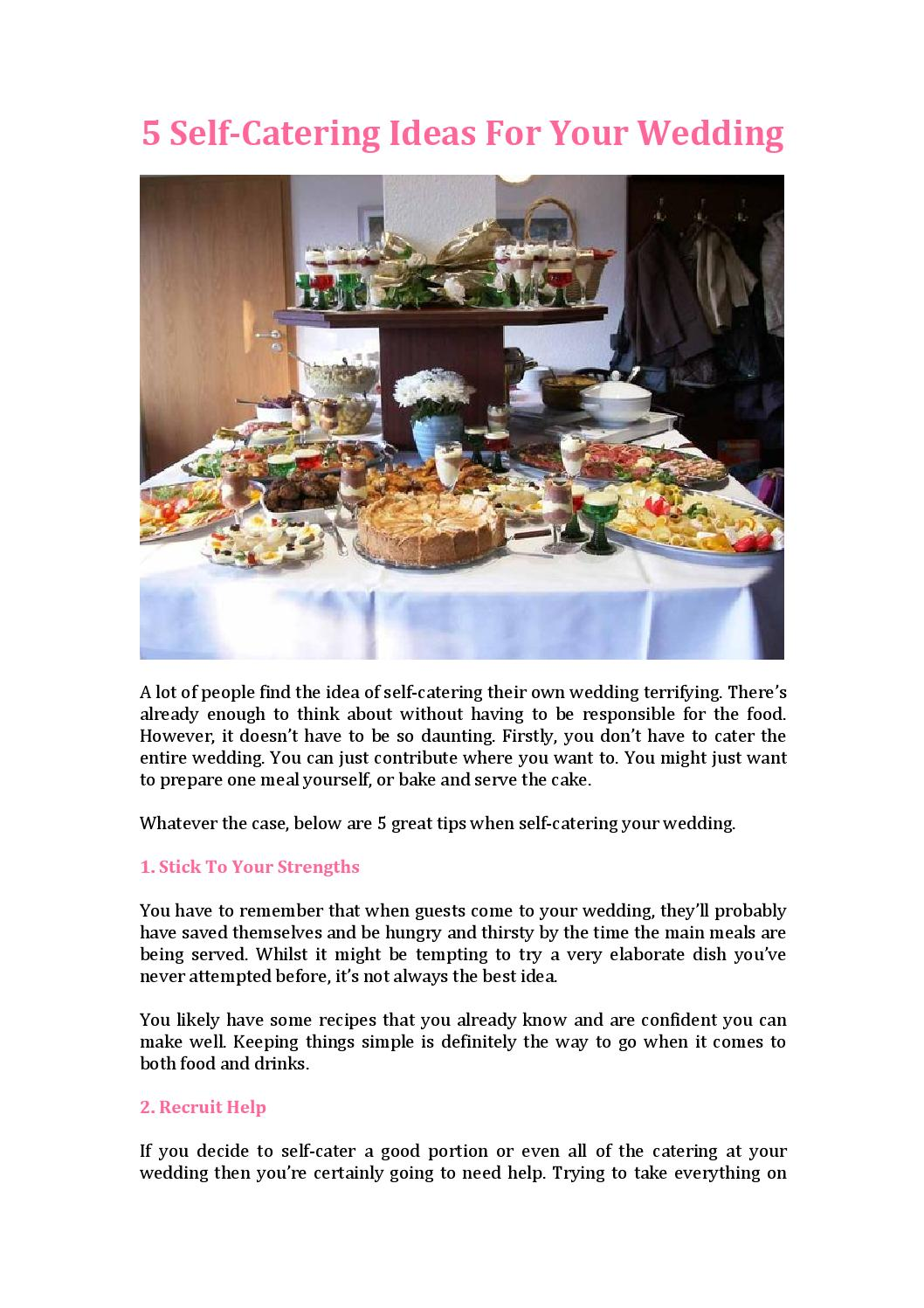 5 self catering ideas for your weddingself catering ideas by 5 self catering ideas for your weddingself catering ideas by summermartin issuu solutioingenieria Choice Image