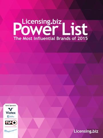 38cbedf3899c8 Licensing.biz Powerlist 2015 by Future PLC - issuu