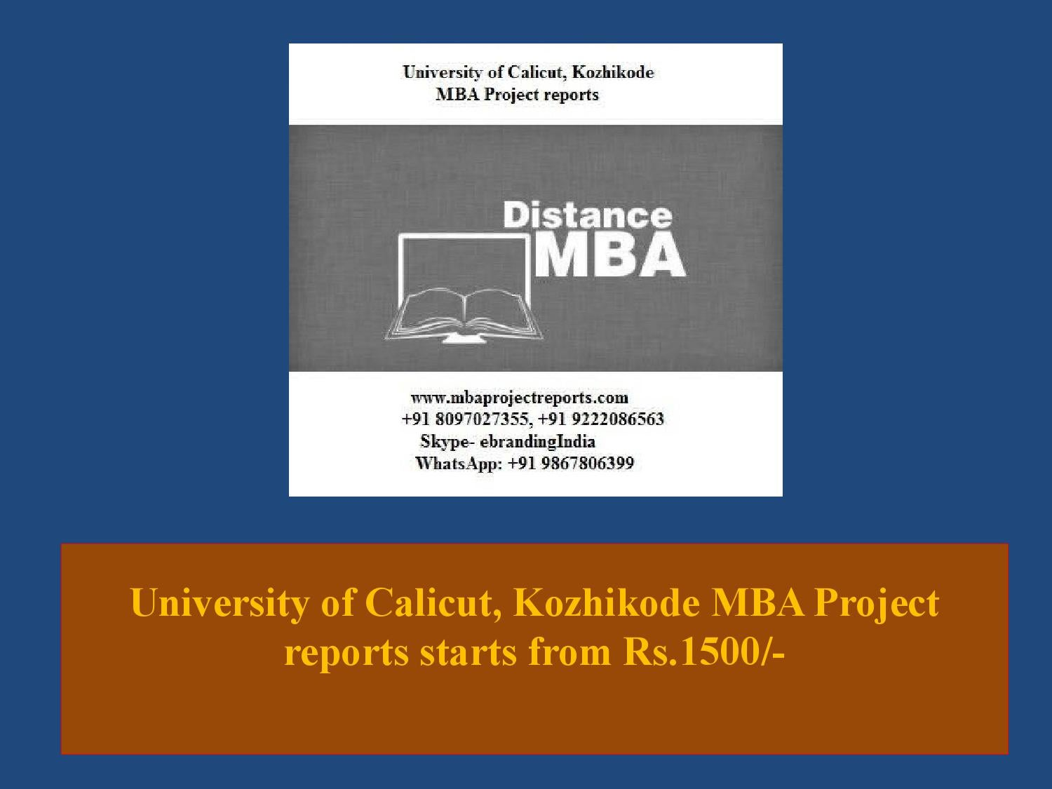 Calicut university phd thesis