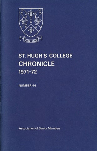 b7e7dd25 St Hugh's College, Oxford - Chronicle 1971-1972 by St Hugh's College ...