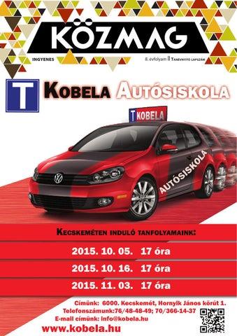 """Cover of """"KÖZMAG Középiskolások Magazinja - Tanévnyitó Lapszám - 2015-09 – Kecskemét"""""""