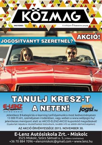 """Cover of """"KÖZMAG Középiskolások Magazinja - Tanévnyitó Lapszám - 2015-09 – Miskolc"""""""