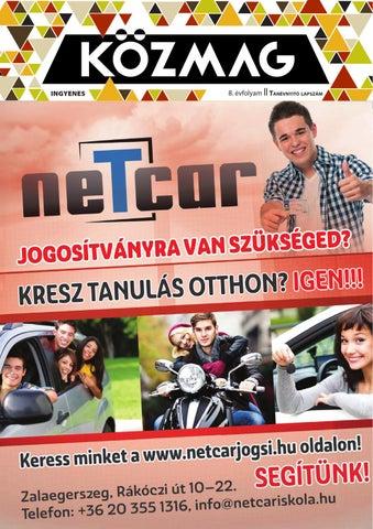 """Cover of """"KÖZMAG Középiskolások Magazinja - Tanévnyitó Lapszám - 2015-09 – Zalaegerszeg"""""""