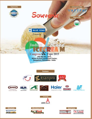 Indian Icecream Congress & Expo - Sovenir 2015 by Advance