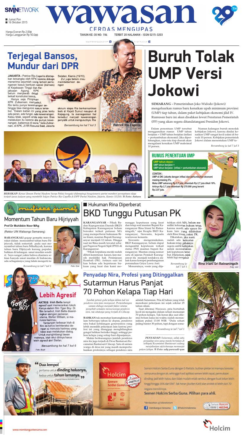 WAWASAN 16 Oktober 2015 by KORAN PAGI WAWASAN - issuu 4a5fc99262