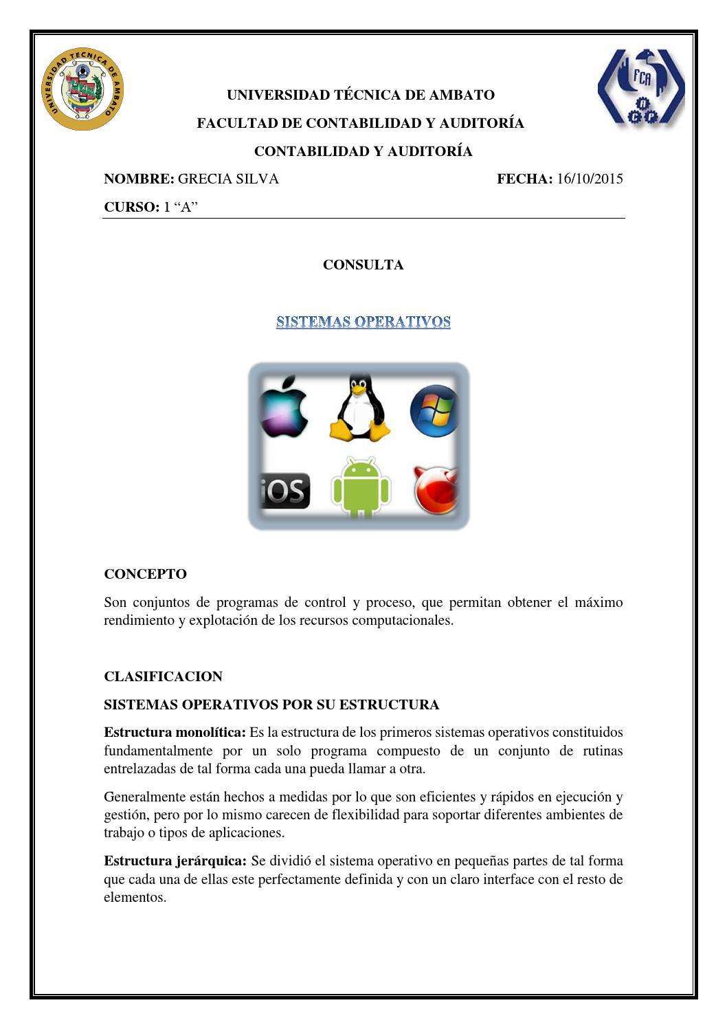 Sistemas Operativos Grecia Silva By Grecia Silva Issuu