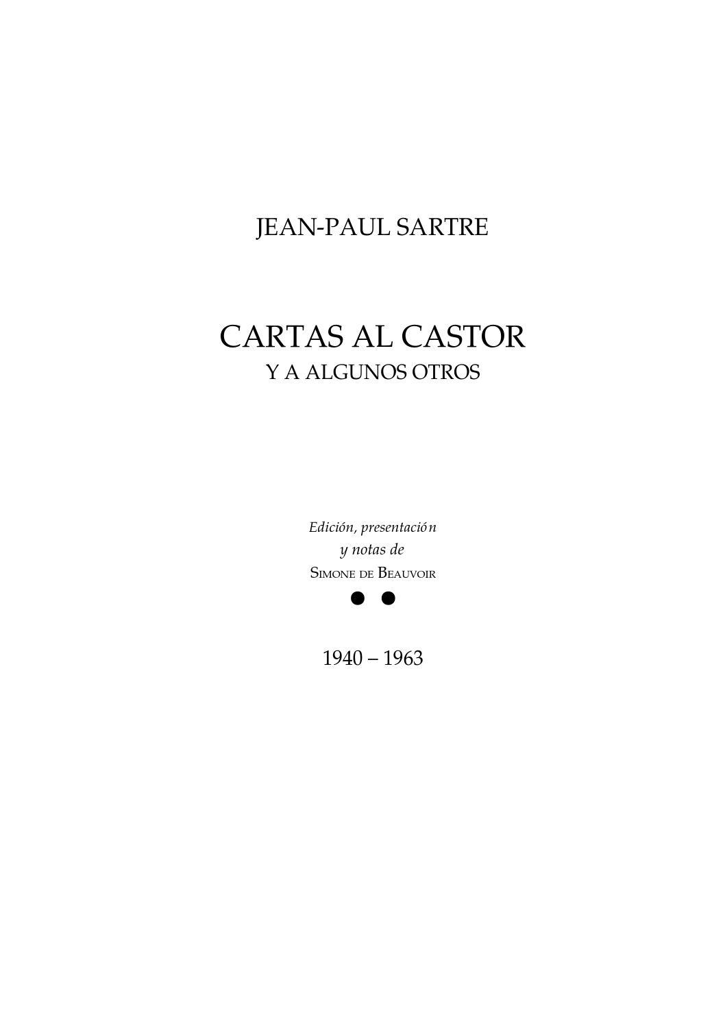 Sartre jean paul cartas al castor y a algunos otros by edgar ...