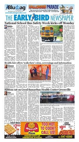 Early Bird eNewspaper 10-18-15 by The Early Bird - issuu