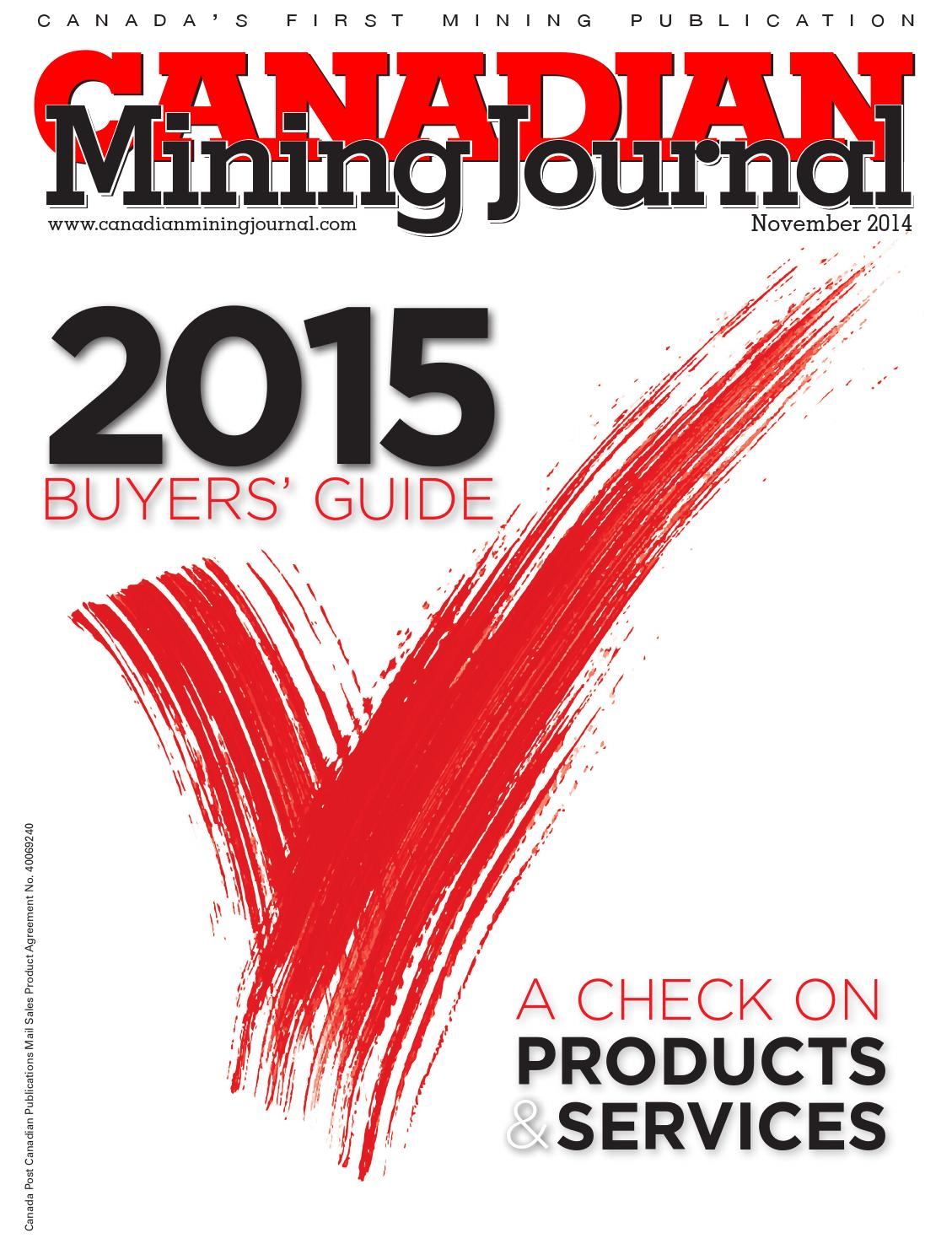 Canadian Mining Journal November 2014 By The Northern Miner Group Vanagon Alternator 213 8155 Wiring Diagram Issuu