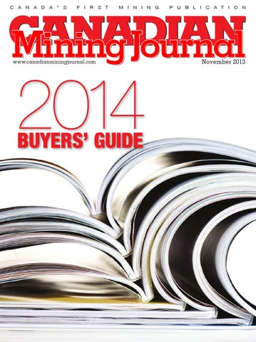 12ac88c62cbc Canadian Mining Journal November 2013 by The Northern Miner Group - issuu