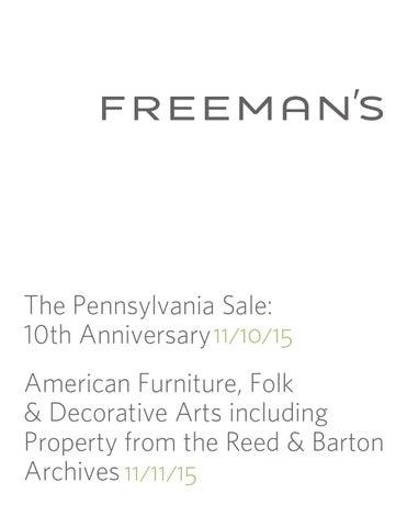 American Furniture Folk Decorative Arts By Freemans Issuu