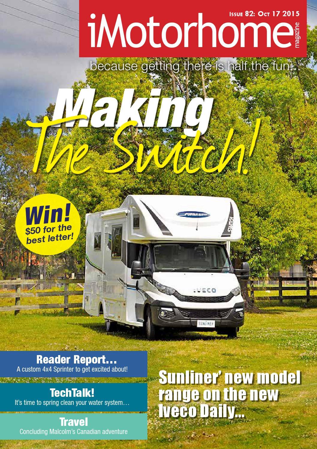 iMotorhome eMagazine Issue 82 - 17 Oct 2015 by iMotorhome Magazine