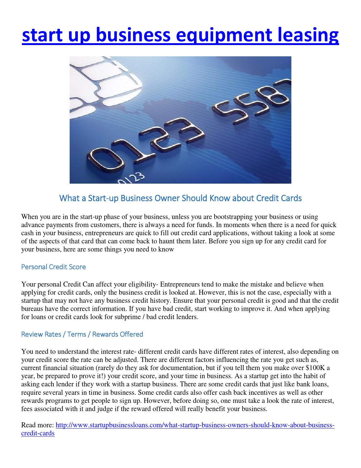 What a start up business owner should know about business credit what a start up business owner should know about business credit cards by mary s anderson issuu reheart Image collections