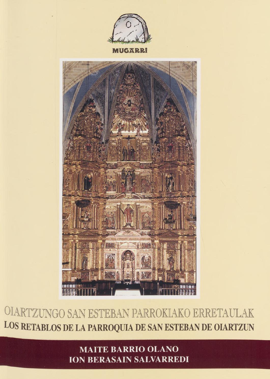2001 Oiartzungo San Esteban Parrokiako Erretaulak By Oiartzungo  # Muebles Ugalde Hernani