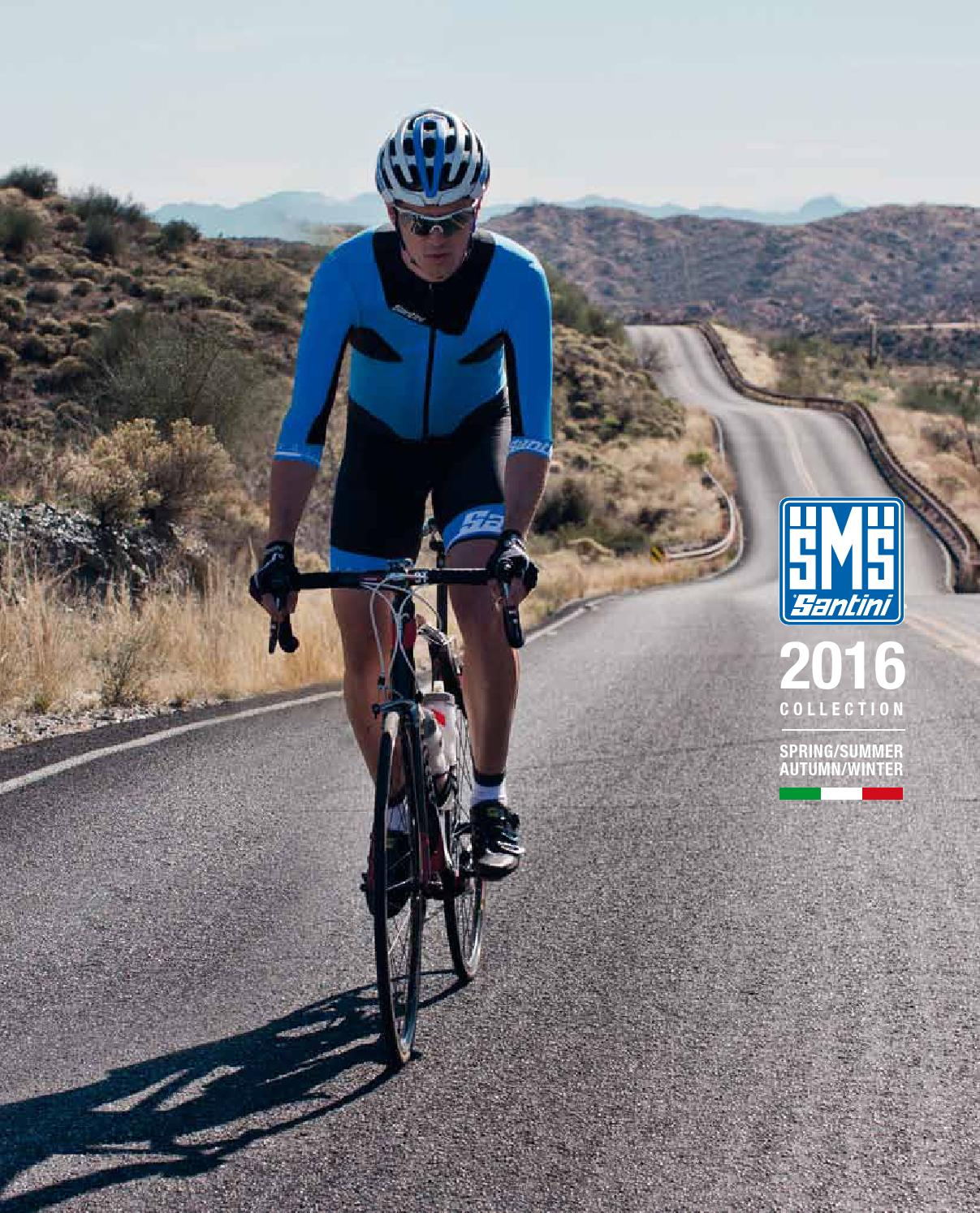 Made in Italy by Santini. Interactive 3.0 Cycling Jersey in Blue