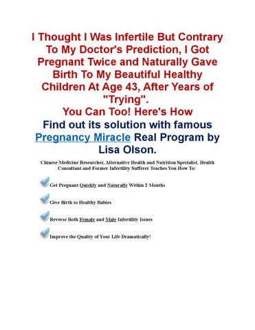 Pregnancy miracle pdf download book by lisa olson by ryan felton pregenency miracle system by lisa olson ebook review malvernweather Image collections