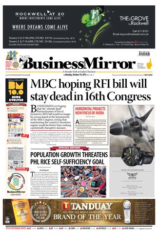 BusinessMirror 19, 2015 by BusinessMirror - issuu