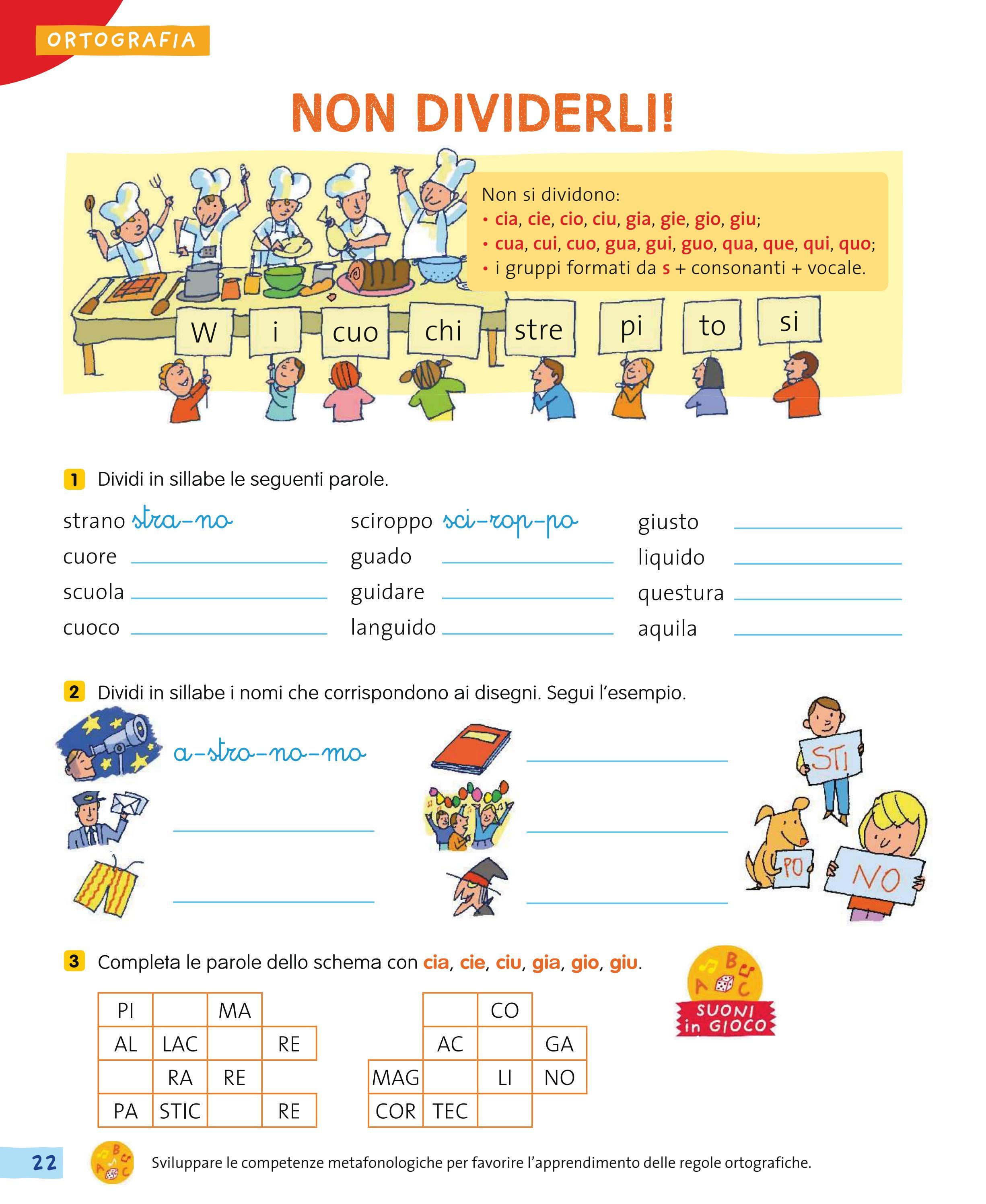 A come a scuola insieme grammatica by utenti for Gia gio giu