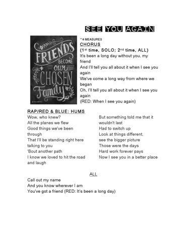 See You Again Lyrics by Alysia Lee - issuu