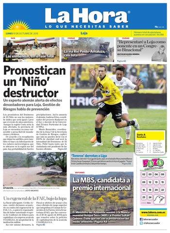 f8b7b6ac344f5 Diario La Hora Loja 19 de Octubre 2015 by Diario La Hora Ecuador - issuu