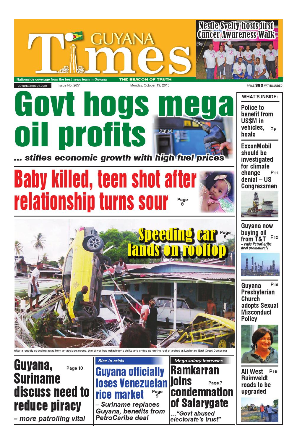 Guyana Times Daily - October 19, 2015 by Gytimes - issuu