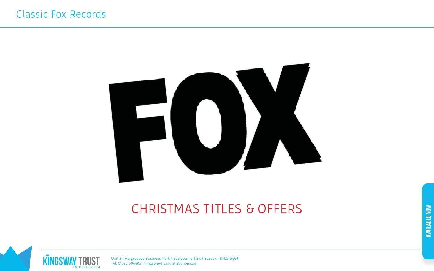 Fox Records - Christmas Titles by Kingsway Trust - issuu